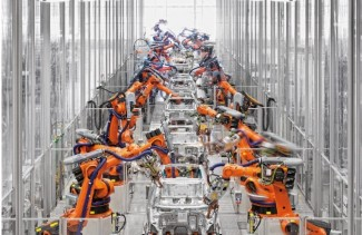 CLB53 Kuka robots in automotive factory